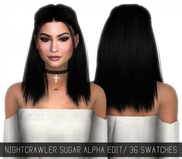 Simpliciaty: Nightcrawler`s Sugar hairstyle Alpha Edit • Sims 4 Downloads