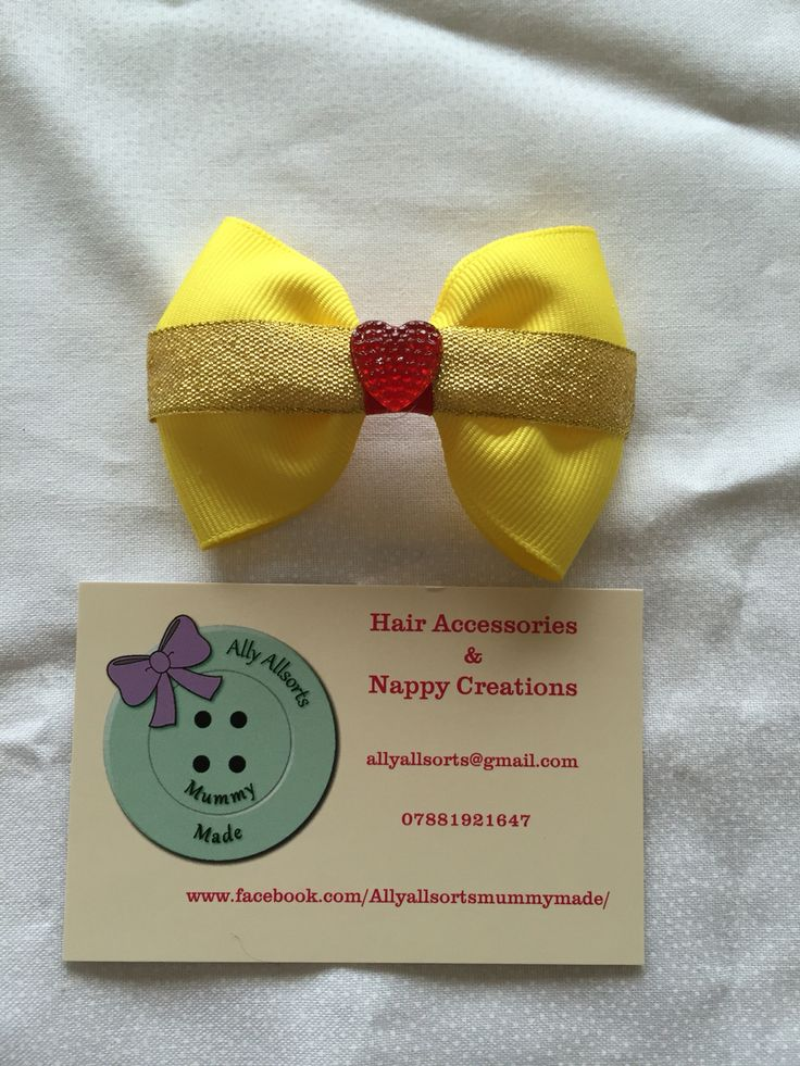 Princess belle inspired hair bow from beauty and the beast designed by me
