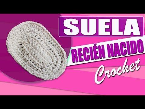 Suela Para Zapatos - Tejidos a Crochet Para Bebe de 0 a 3 Meses - YouTube