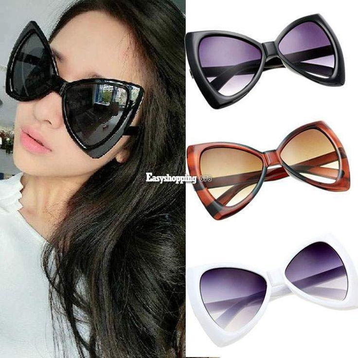 New Designer Oversized Women's Sunglasses eyewear Fashion Retro Vintage Shades #BrandNew #Designer