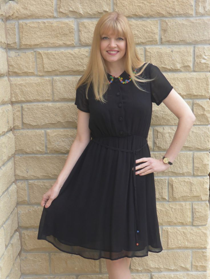 Outfit: Beaded Collar Dress with Zebra Shoes