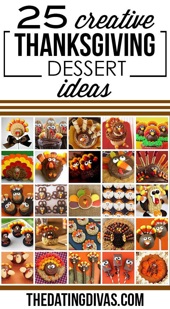 25 Turkey Treats for Thanksgiving- so many cute dessert ideas! www.TheDatingDivas.com