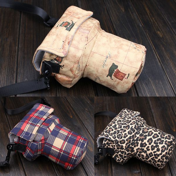 Small Vintage Mens Womens Waterproof Camera Travel Shoulder Pig Bag Insert Case Fit Digital DSLR SLR Canon Nikon Pentax Lens-in Camera/Video Bags from Consumer Electronics on Aliexpress.com | Alibaba Group