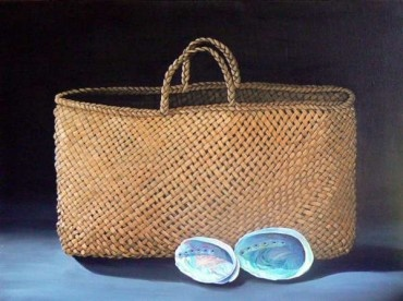 Kete - a Maori basket made from New Zealand flax.