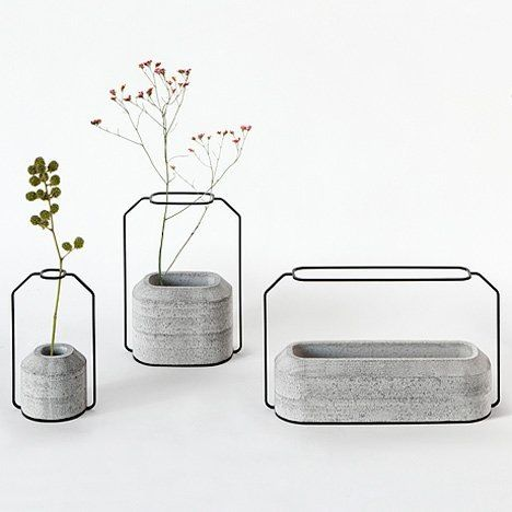 Each One Has A Concrete Base, Which Provide Stability, And A Steel Frame  Supporting Flower Stems. Design By Decha Archjananun Of Studio Thinkk.
