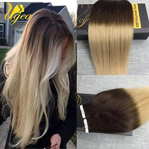 Best 25 tape in extensions ideas on pinterest tape hair ugea 22 inch invisble skin weft remy human hair tape in extensions omber colored pmusecretfo Image collections