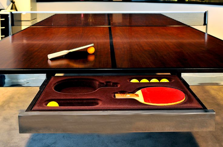 Table & Tennis was created to merge a beautiful conference, dining, or other use table, & build it to the specs of a table tennis table.