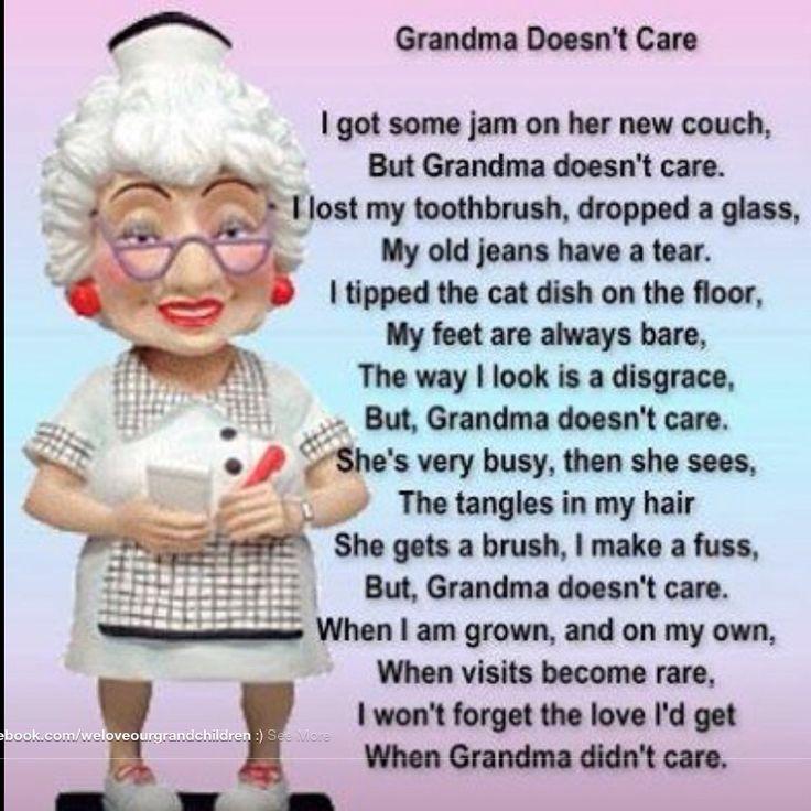Grandma doesn't care! Proud grandparents Pinterest