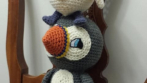 [FO] I made Baba and Oona from Puffin Rock for a friend.