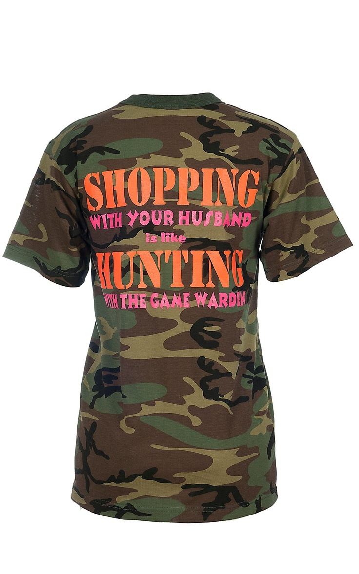 Backwoods Barbie® Ladies Camo Shopping with Your Husband Short Sleeve Tee | Cavender's Boot City