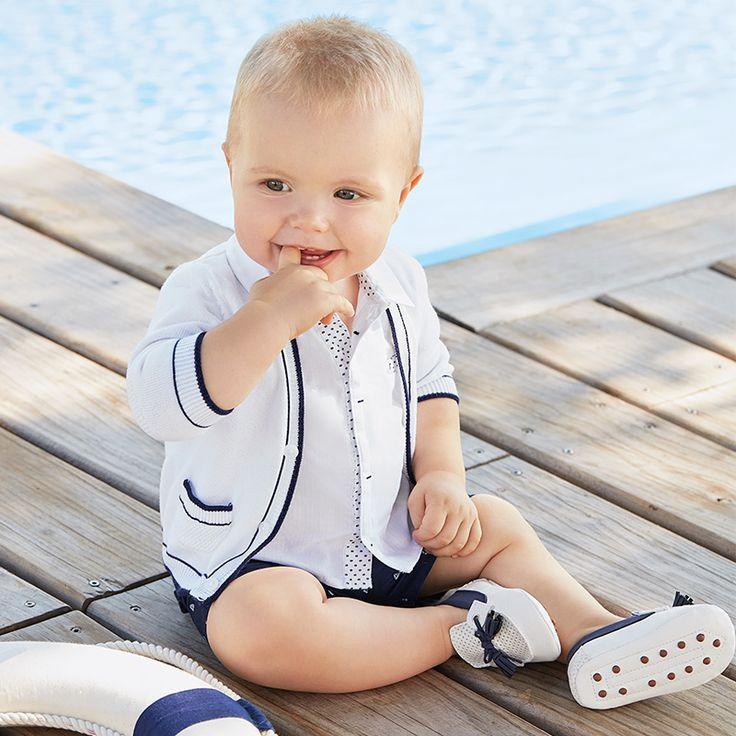 #Outfit marinero de #ninño bebé de la marca #Mayoral