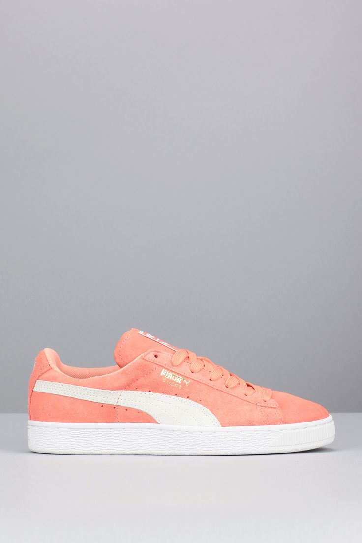Baskets corail cuir Suede Classic +