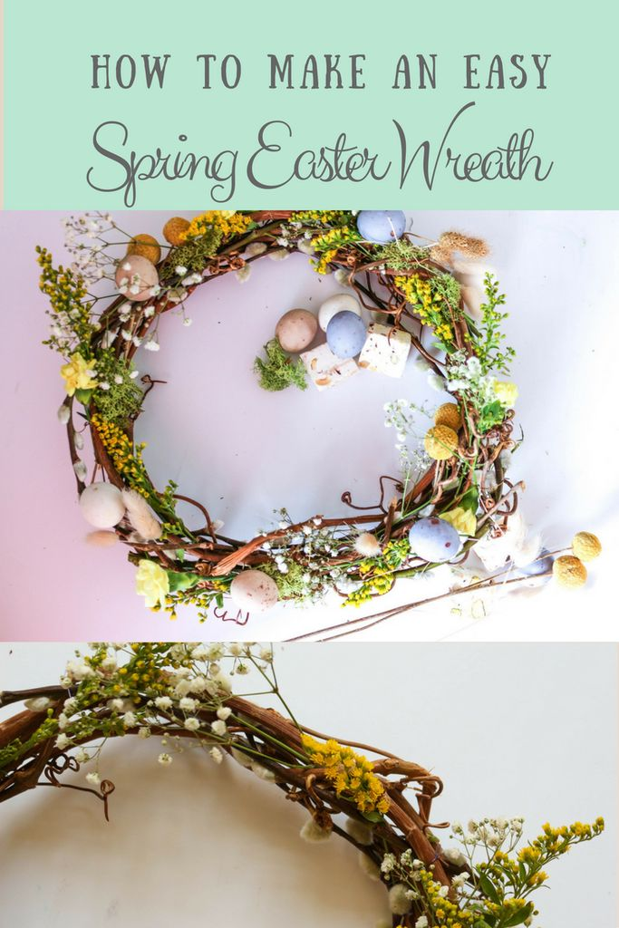 How to Make an Spring Easter Wreath: Craft Challenge 3