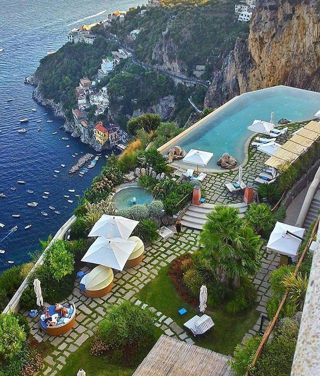Who wishes they were at the Monastero Santa Rosa right now?! The Amalfi Coast is amazing  #Italy #travel #amalficoast #luxury #love ☀️️☀️️☀️️