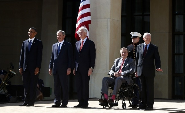 Here Are All 5 Living Presidents Together at the George W. Bush Library  The gathering of Presidents Bush, Bush, Clinton, Carter, and Obama appears to tie for the largest such convention of commanders in chief ever.