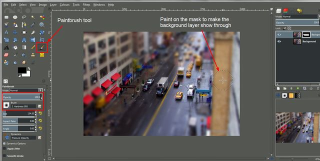 How to Make a Tilt Shift Effect in GIMP: Manually Blur Areas