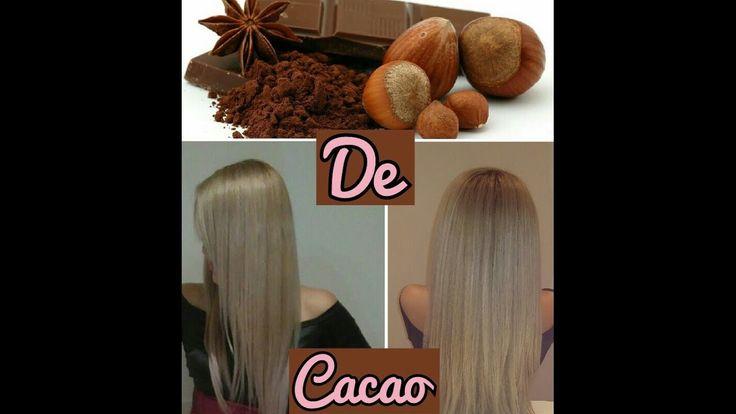 KERATINA CASERA DE CACAO... Cabello sin frizz, liso y con mucho brillo e...