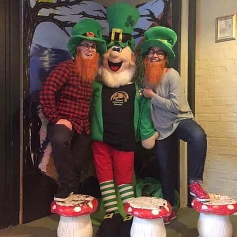 Two of our travelers sent us this #selfiewithseamus after having a blast at the National Leprechaun Museum of Ireland! #Ireland #visitireland #leprechaun #museums #history #legends #discoverireland #wanderireland #tourism #rocks #explore #authenticireland #authenticscotland #authenticengland #authenticvacations #experiencemore