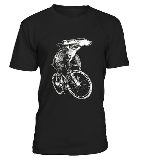 """# Hammerhead Shark on a Bicycle TShirt .  100% Printed in the U.S.A - Ship Worldwide*HOW TO ORDER?1. Select style and color2. Click """"Buy it Now""""3. Select size and quantity4. Enter shipping and billing information5. Done! Simple as that!!!Tag: shark, marine biology, shark lovers, a giant toothy fish, Hammerhead Shark, Megalodon Shark, Blacktip Shark, Great White Shark, Shortfin Mako Shark, Leopard Shark, Tiger Shark, Bull Shark, Whitefin Hammerhead Shark, Oceanic Whitetip Shark"""