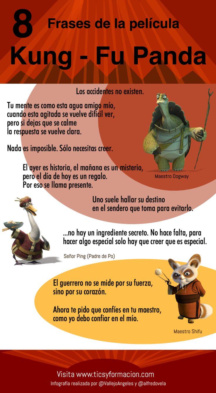 8 frases de las película Kung-Fu Panda #infografia