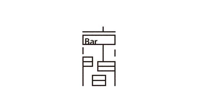 京都某所で定期的に、秘密裏にオープンするBar。 モダンで和を感じる空間からイメージしてデザインしました。 CL:Bar 京間