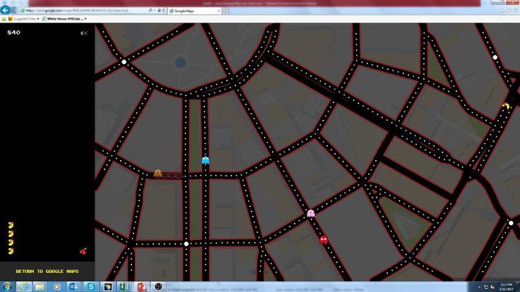 Google Maps Ms Pac Man in Detroit