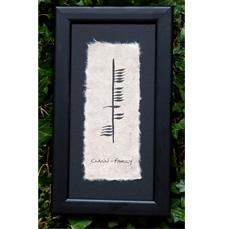 I'd love to get this somewhere, not sure where. It means family in ancient Celtic ogham