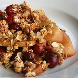 Apple and Cranberry Crisp - LOADED with flavor... Absolutely delicious. I made three pans of this at once and gave the other two away. Definitely one of those recipes to make and share. So yummy!