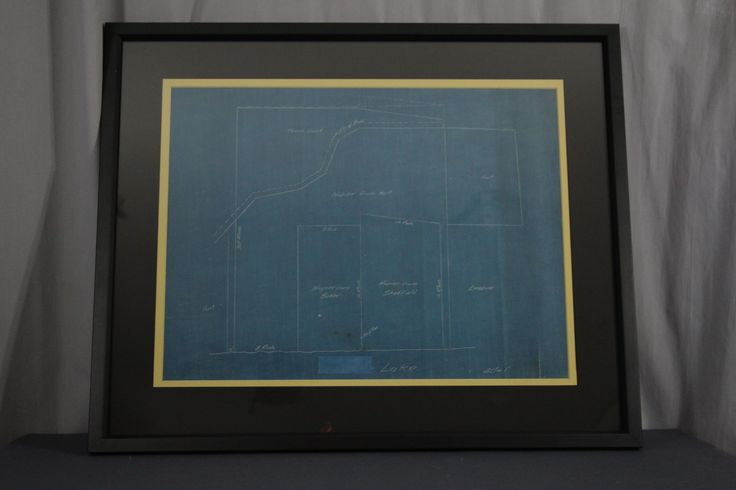 After Conservation of a plot map. The map has been conserved and framed.