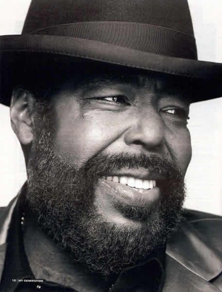 Barry White, born Barry Eugene Carter, was an American composer and singer-songwriter. A two-time Grammy Award-winner known for his distinctive bass voice and romantic image