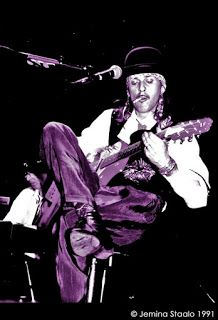 Rock´n roll photos: Andy McCoy, stetson & Nicky Hopkins, 1991