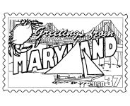 USA-Printables: State of Maryland Coloring Pages - Maryland tradition and culture coloring pages