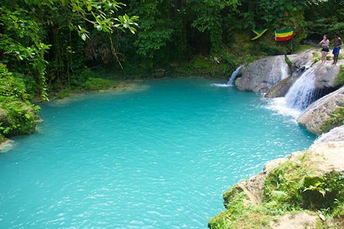 The Blue Hole in Ocho Rios, Jamaica
