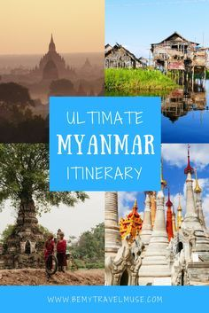 A comprehensive guide to travel in Myanmar, a country quickly gaining popularity amongst backpackers in Southeast Asia (for good reason!). This itinerary includes stops in Yangon, Inle Lake, Bagan, Mandalay + more! Travel tips for your trip to Burma.    Be My Travel Muse