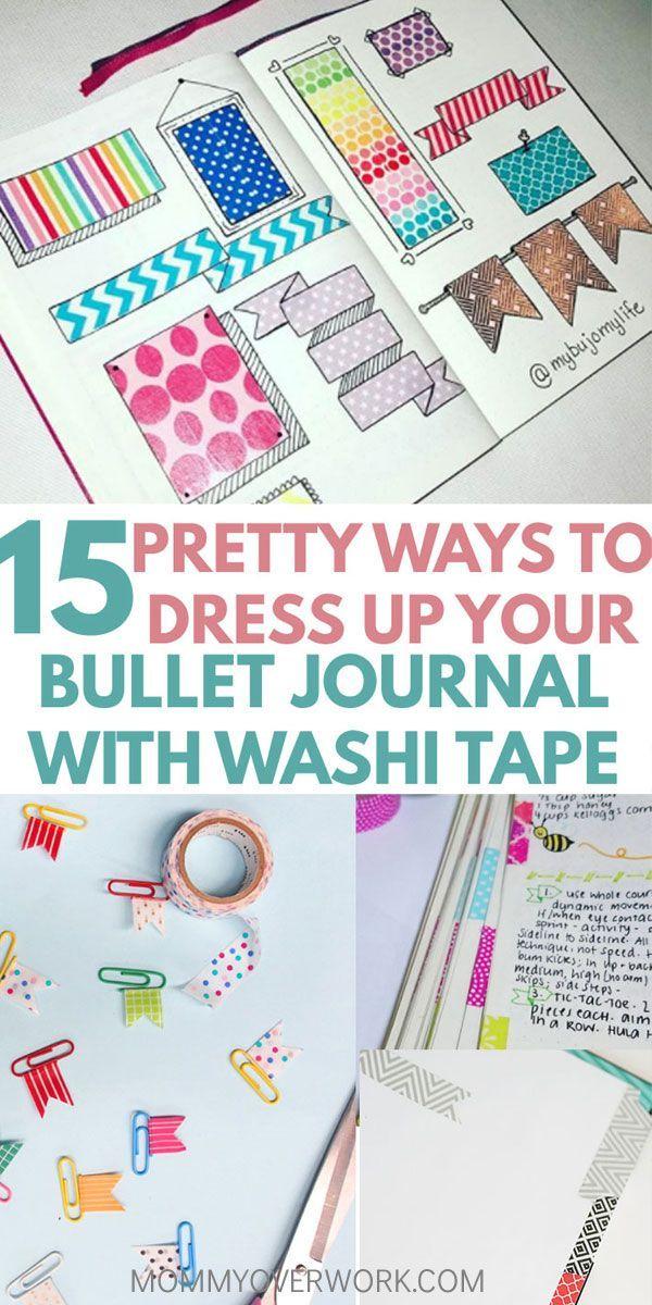 15 Creative Bullet Journal Washi Tape Ideen, die herausragen