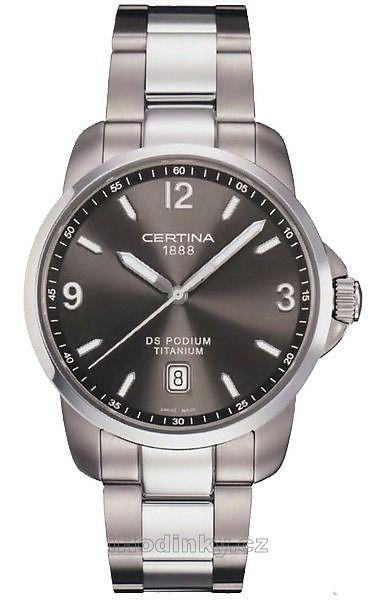 Pánske hodinky Certina DS Podium Analog C001.410.44.087.00 majú zafírové sklíčko a remienok/náramok z materiálu titán. Púzdro hodiniek Certina DS Podium Analog C001.410.44.087.00 je z materiálu titán. Pánske hodinky Certina DS Podium Analog C001.410.44.087.00 majú funkcie: dátum, luminiscenčné ručičky. Vodotesnosť je 10 ATM / 100 m.
