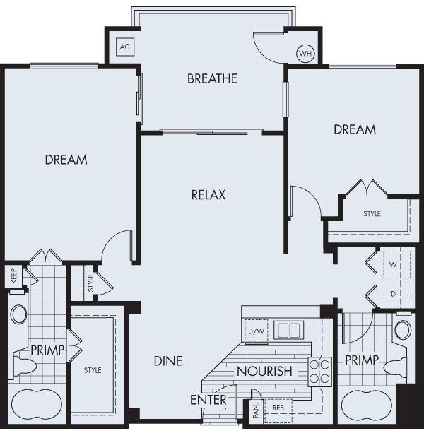 The Georgetown 2 bedroom2 bath 1,097 sq ft $1,850 - $2,233 mo* $500 security deposit City Lights Aliso Viejo, CA