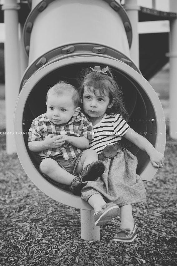 Kids playground photography session -- © Chris Bonini Photography #chrisboniniphotography #kids #siblings #playground #newengland