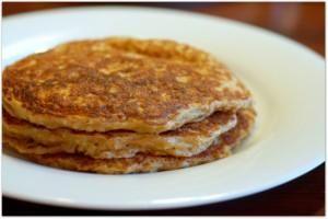Tortilla de Avena y Canela.Oatmeal and cinnamon pancake.