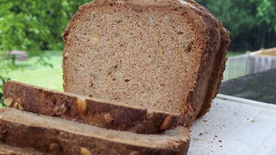 This 100% whole wheat bread gets an extra chewy crunch from toasted pumpkin seeds and sunflower seeds.