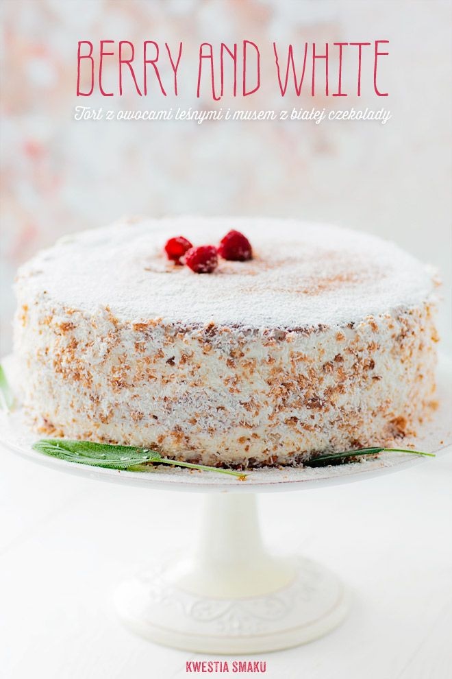 Berry & White Layer Cake