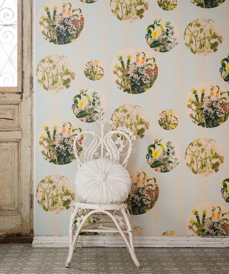 Euphemia 5 Wallpaper • Unique Floral Wallpaper • Milton