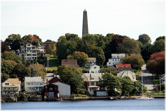 Groton, Connecticut. Seen from New London across the Thames River.