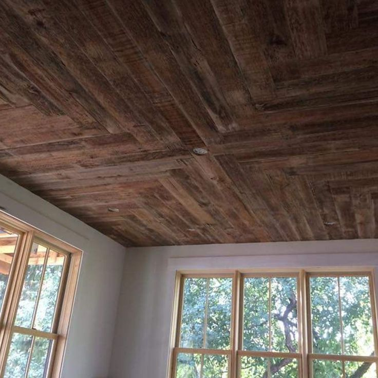 Barn wood ceiling! Come in to shop for your DIY project or hire us @ http://www.facebook.com/rusticrevivalbarnwood  #reclaimed #rustic #barn #wood #rusticrevivalbarnwood #minnesota