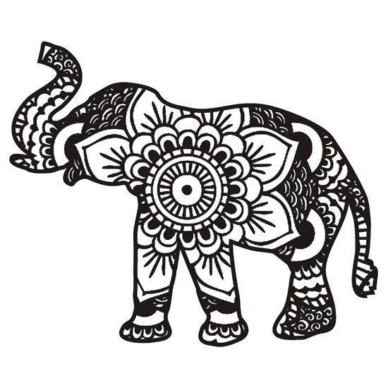 how to draw a tribal elephant