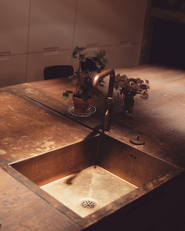 Brass sink from ONO.dk #brasssink #onosink