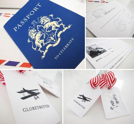 Travel Party Passport Invite (Free Printable)