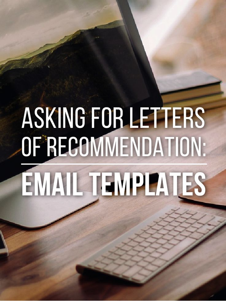 Tips and email templates for letters of