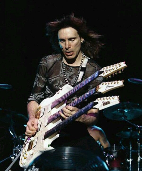 Oh your guitar has more necks than jimmy page? good for you, Steve Vai.
