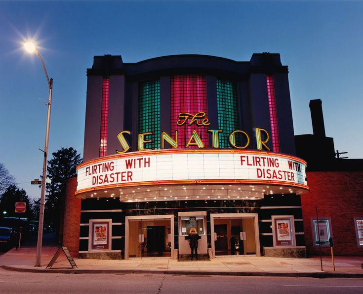 The Senator Theatre, Baltimore. The 900-seat Art Deco Senator Theatre is the last single-screen theater still standing in the city. This 1939 architectural jewel was designed by John Zink and features a two-story, rounded lobby, adorned from the outside with an eye-catching abundance of neon and glass brick that beckons from blocks away.  Stefanie Klavens